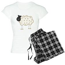 Stick Figure Sheep Pajamas