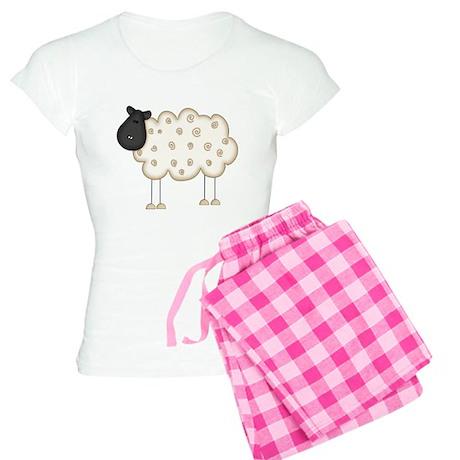 Stick Figure Sheep Women's Light Pajamas