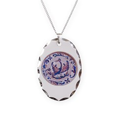 Spanish Plate Painting Necklace