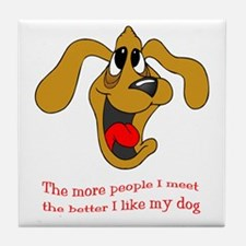 People vs. Dog Tile Coaster