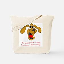 People vs. Dog Tote Bag