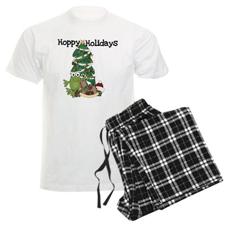 Frog Hoppy Holidays Men's Light Pajamas