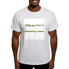 Interesting Times Ash Grey T-Shirt