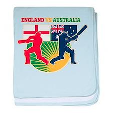 Cricket England Australia baby blanket