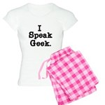 I Speak Geek Women's Light Pajamas