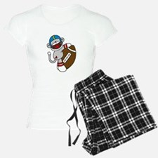 Sock Monkey Football Pajamas