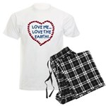 Love Me, Love the Earth Men's Light Pajamas