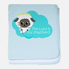 """The Lord is my shepherd"" baby blanket"