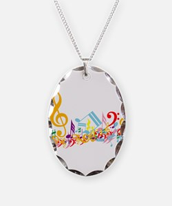 Mixed Musical Notes (color) Necklace