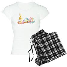 Mixed Musical Notes (color) pajamas