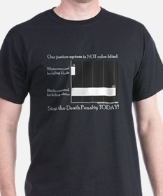 Black T-Shirt - our justice system is NOT color b