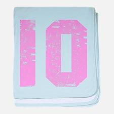 10th Birthday baby blanket