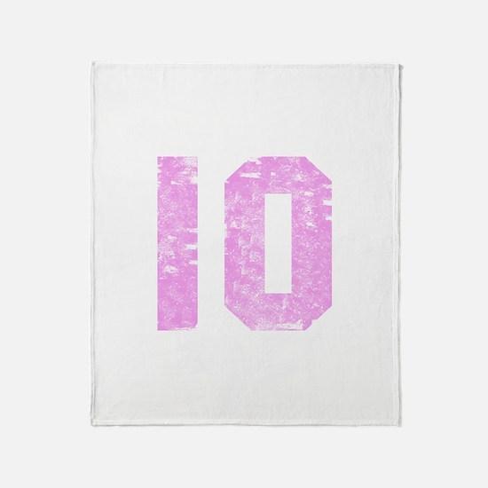 10th Birthday Throw Blanket