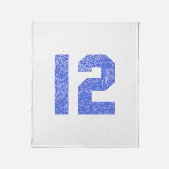 12th Birthday Throw Blanket