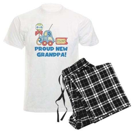 Proud New Grandpa Men's Light Pajamas