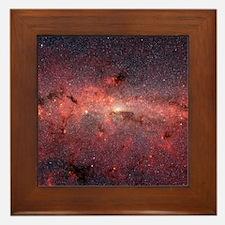 Milky Way Galaxy Center Framed Tile