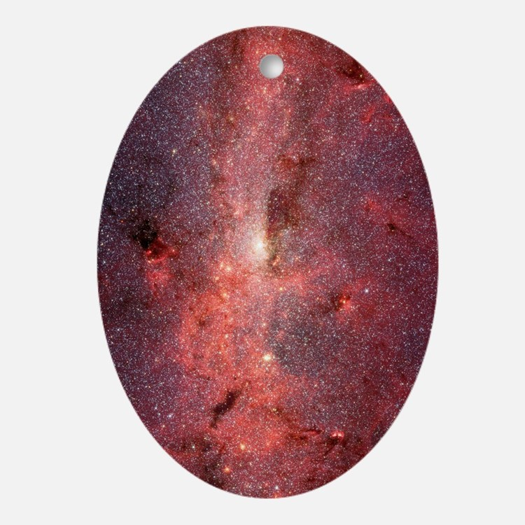 Milky Way Galaxy Center Oval Ornament