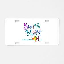 Swim Mom Aluminum License Plate