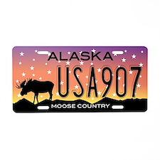 AK Moose Aluminum License Plate