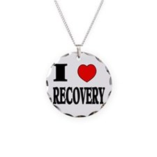 I LOVE RECOVERY Necklace Circle Charm