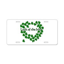The Luck of the Irish Aluminum License Plate