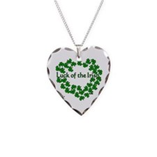 The Luck of the Irish Necklace Heart Charm