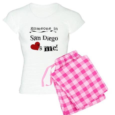 Someone in San Diego Loves Me Women's Light Pajama