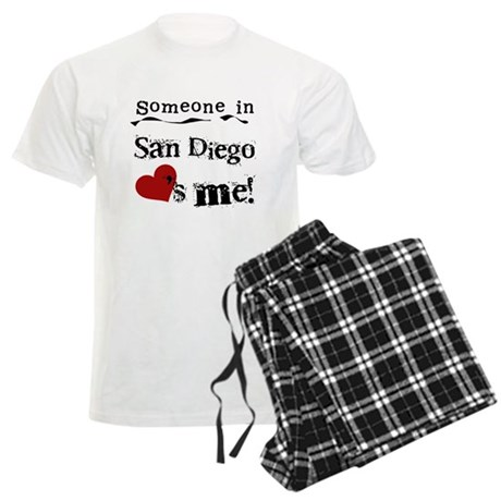 Someone in San Diego Loves Me Men's Light Pajamas