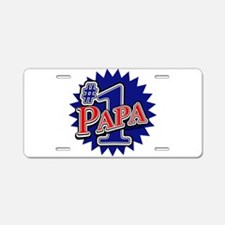 Number 1 Papa Aluminum License Plate