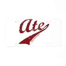 Ate Aluminum License Plate