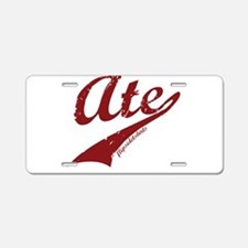 Ate Aluminum License Plate