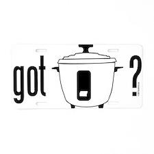 got rice (cooker) Aluminum License Plate