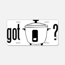 got rice (cooker) Aluminum License Plate