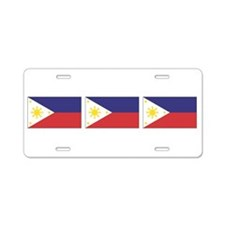 Philippine Flags Aluminum License Plate