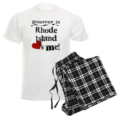 Someone in Rhode Island Men's Light Pajamas