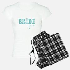 Bride to Be Teal Pajamas