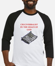 crossword puzzle Baseball Jersey
