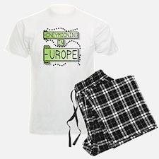 Green Honeymoon Europe Pajamas