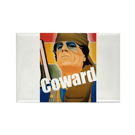 Qaddafi - The Great Coward Rectangle Magnet (100 p