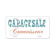 Garage Sale Connoisseur Aluminum License Plate