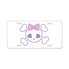 Girlie Goth Aluminum License Plate