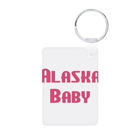 Alaska Baby (pink) Aluminum Photo Keychain