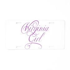 Virginia Girl Aluminum License Plate
