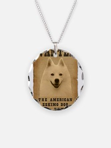 """Wanted"" American Eskimo Dog Necklace"