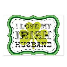 I Love My Irish Husband Postcards (Package of 8)