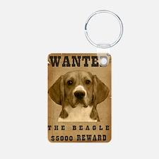 """Wanted"" Beagle Keychains"