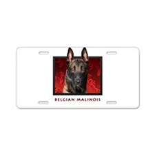 Belgian Malinois Aluminum License Plate