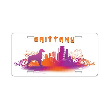 """""""City"""" Brittany Aluminum License Plate"""