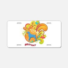 Groovy Brittany Aluminum License Plate