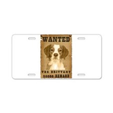 """""""Wanted"""" Brittany Aluminum License Plate"""